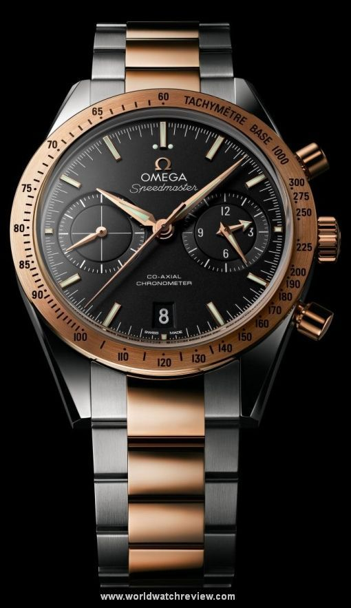 Omega Speedmaster 57 Two Tone Automatic Wrist Watch In Steel And