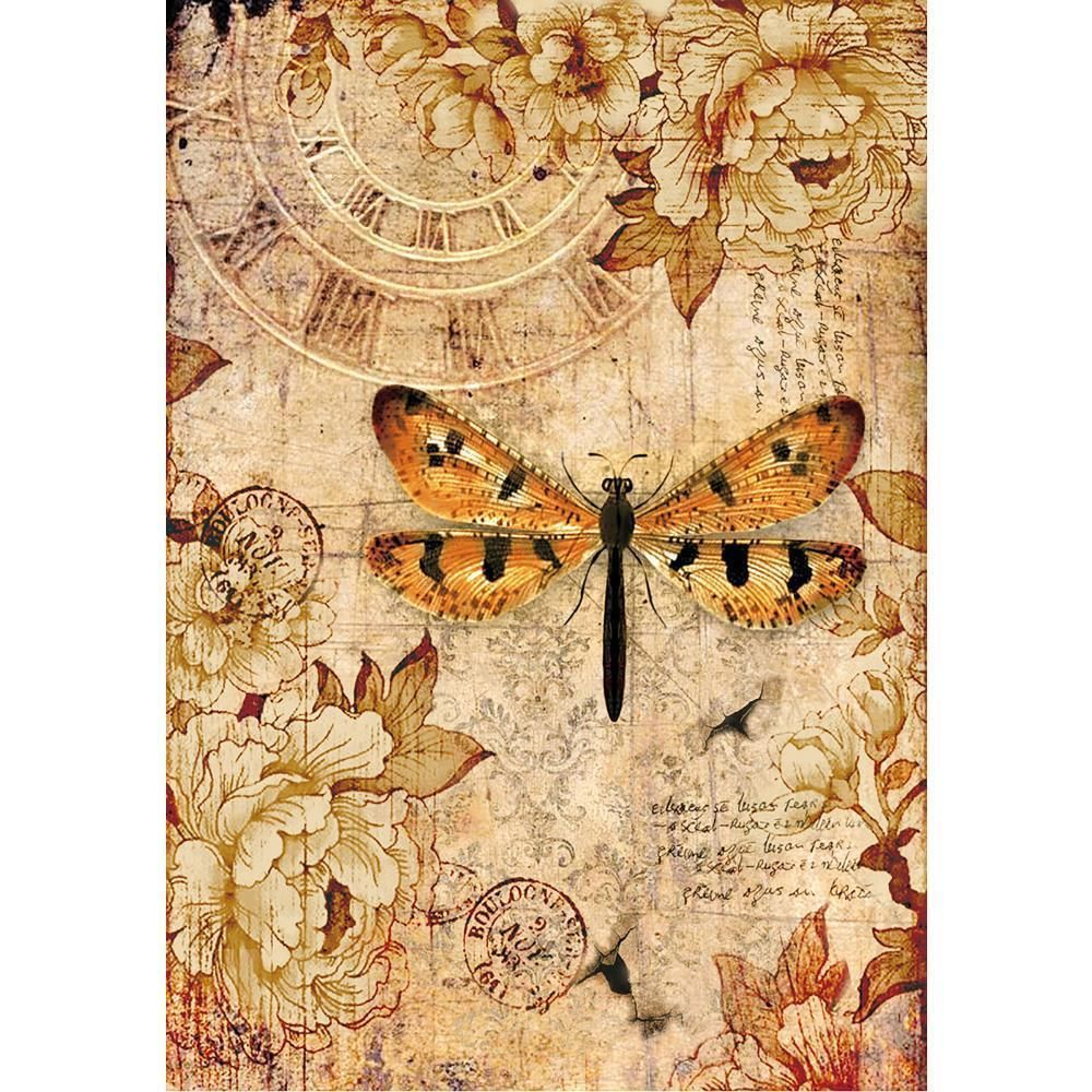 Dragonfly Stamperia Rice Paper Decoupage 1 x A4 Size Sheet
