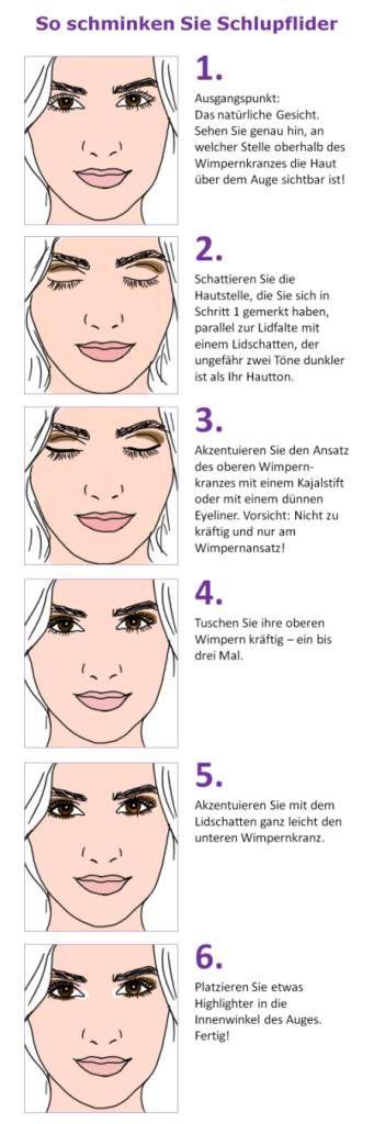 Makeup 50plus so schminken sie schlupflider einfach - Schlupflieder schminken ...