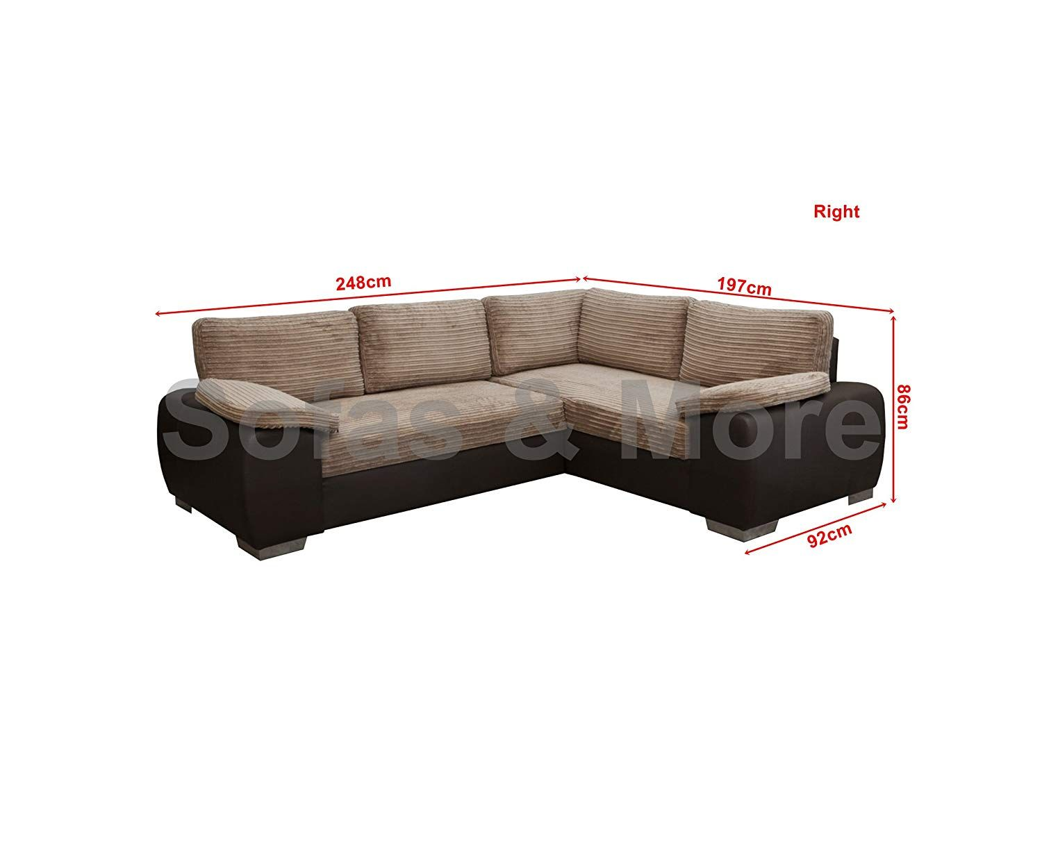 Corner Sofa Bed Jumbo Cord Enzo Corner Sofa Bed With Storage Jumbo Cord Fabric Leather