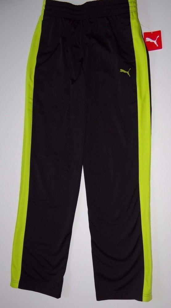 546aa48c7ee6 PUMA Men s Black Sulphur 100% Polyester Sports Contrast Track Pants Sz S L    XXL