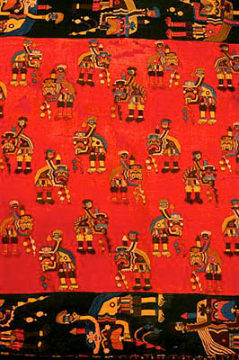 Tejidos de la cultura Paracas. Perú Arqueologia