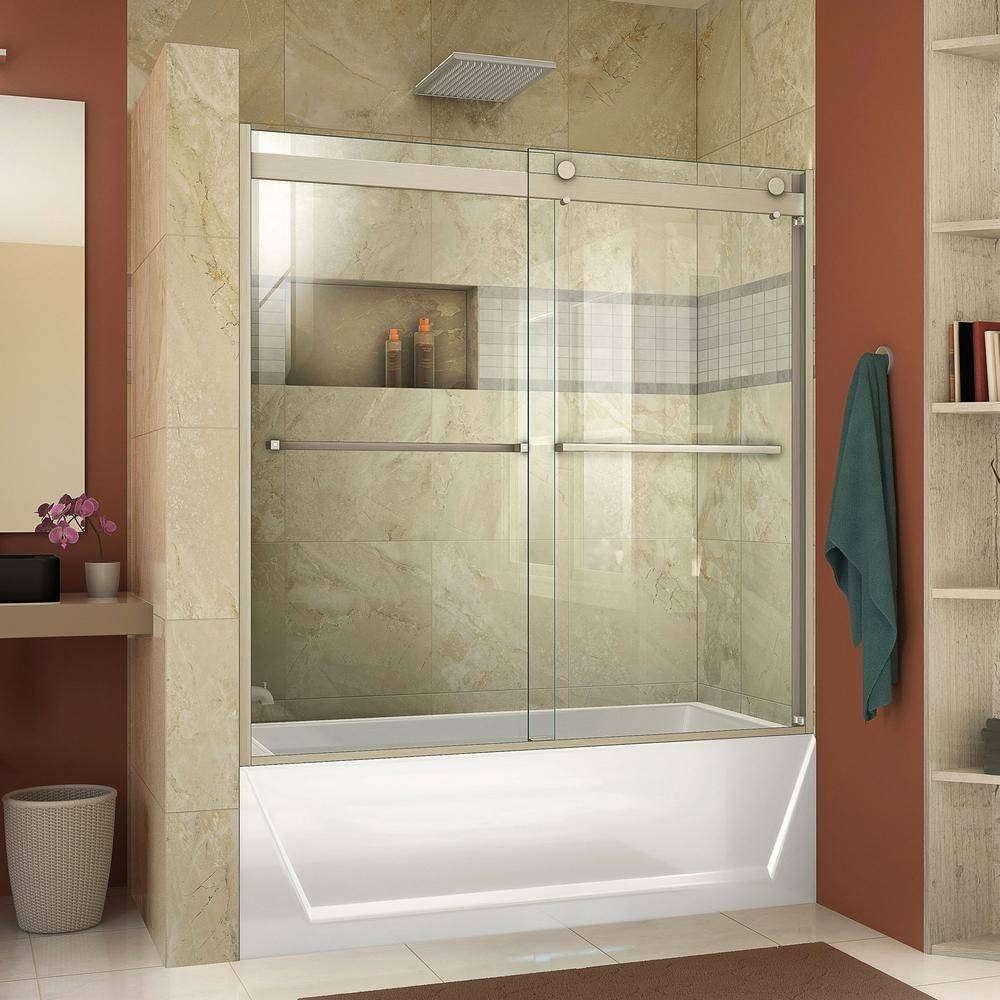 Dreamline Essence H 60 In X 60 In Frameless Bypass Tub Door In