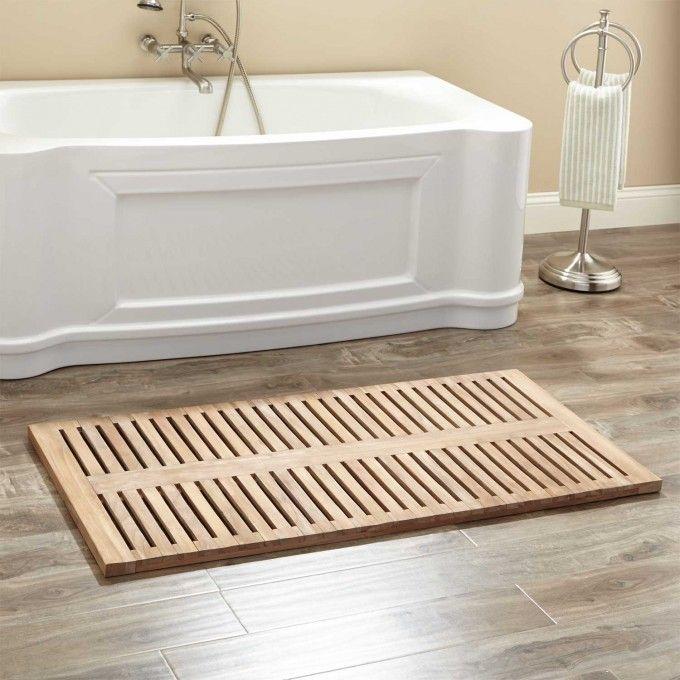 Teak Shower Mat Wood Bath Mats