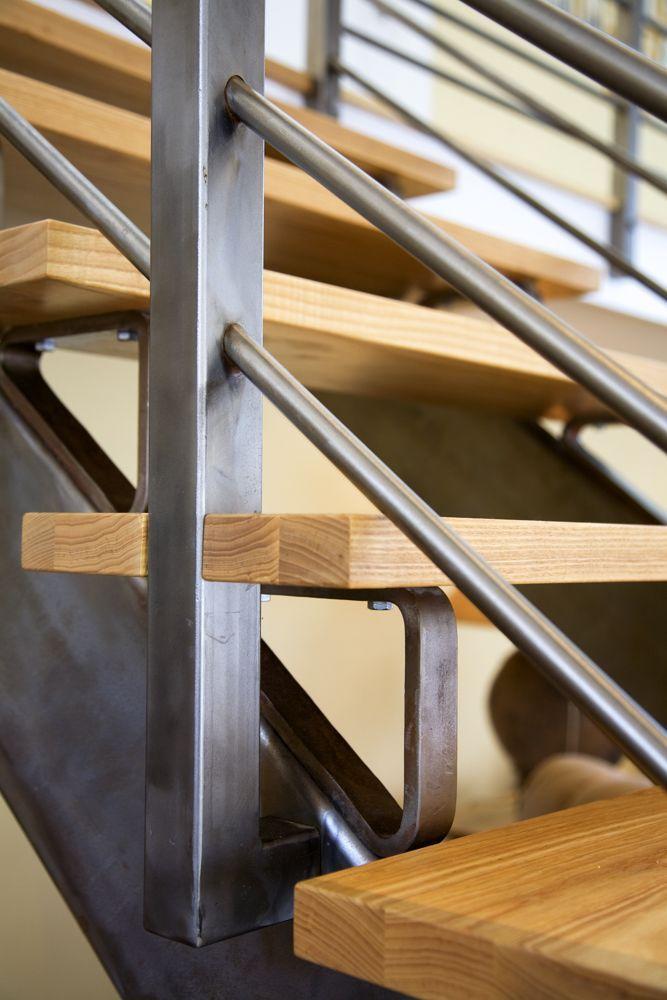Best Custom Stairs With Oak Treads Custom Oak Stairs 400 x 300