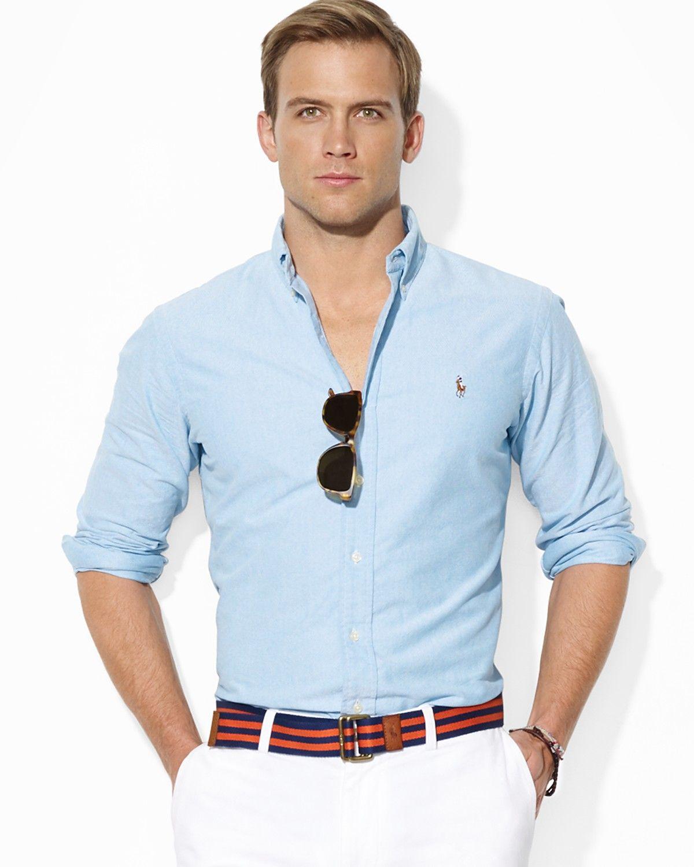 Polo Ralph Lauren Classic-Fit Solid Oxford Sport Shirt - Casual Button-Down  Shirts - Men - Macy's