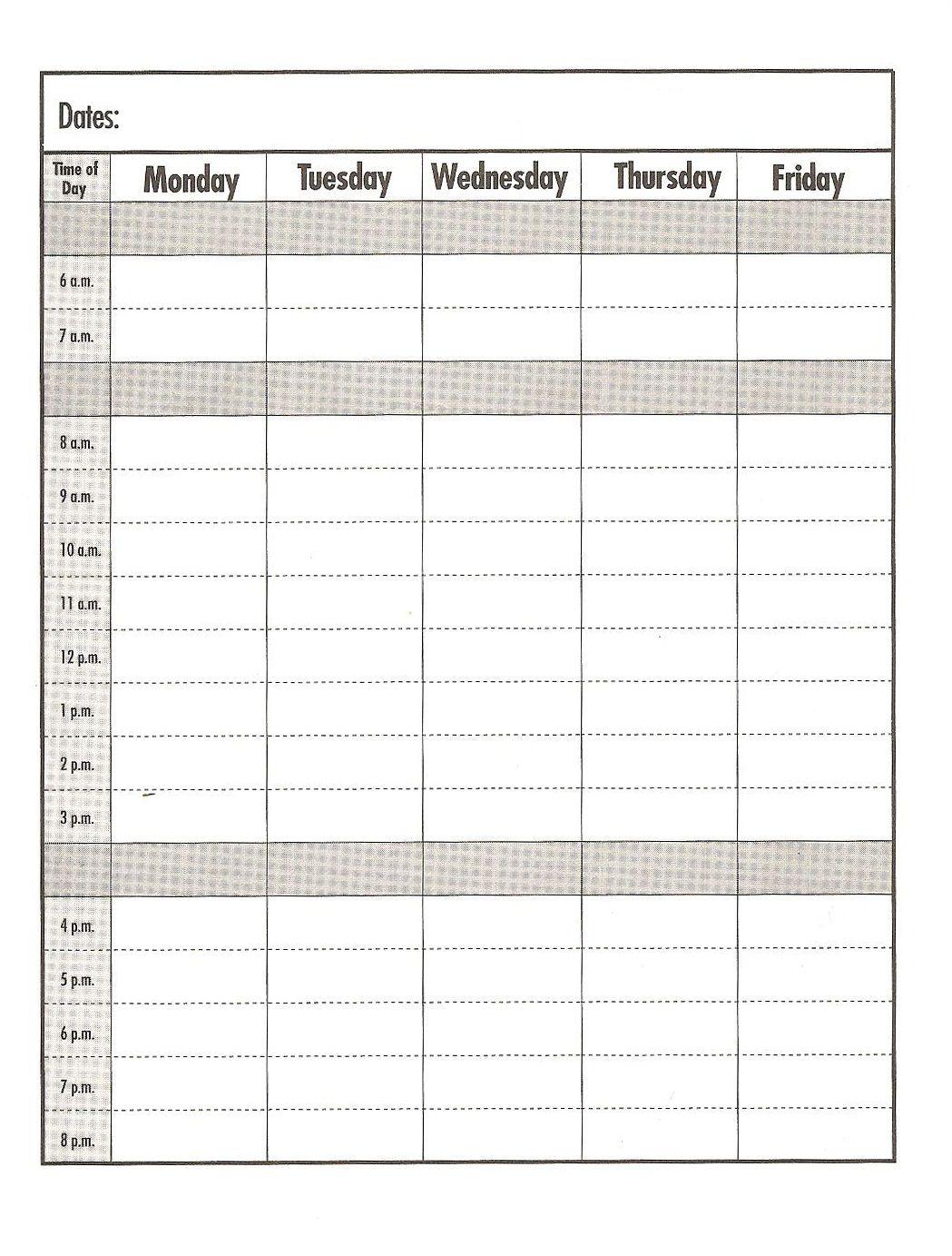 Weekday schedule templateprint out education school organizing weekday schedule templateprint out education school maxwellsz