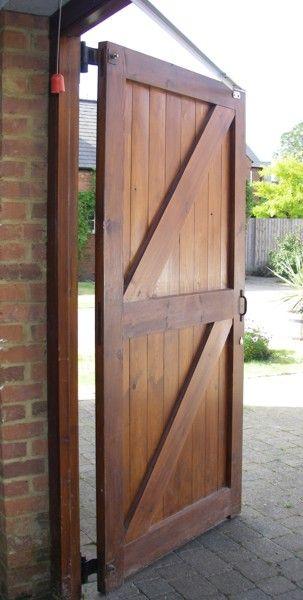 Side Hinged Door With Operator Diy Garage Door Carriage House Doors Wooden Garage Doors