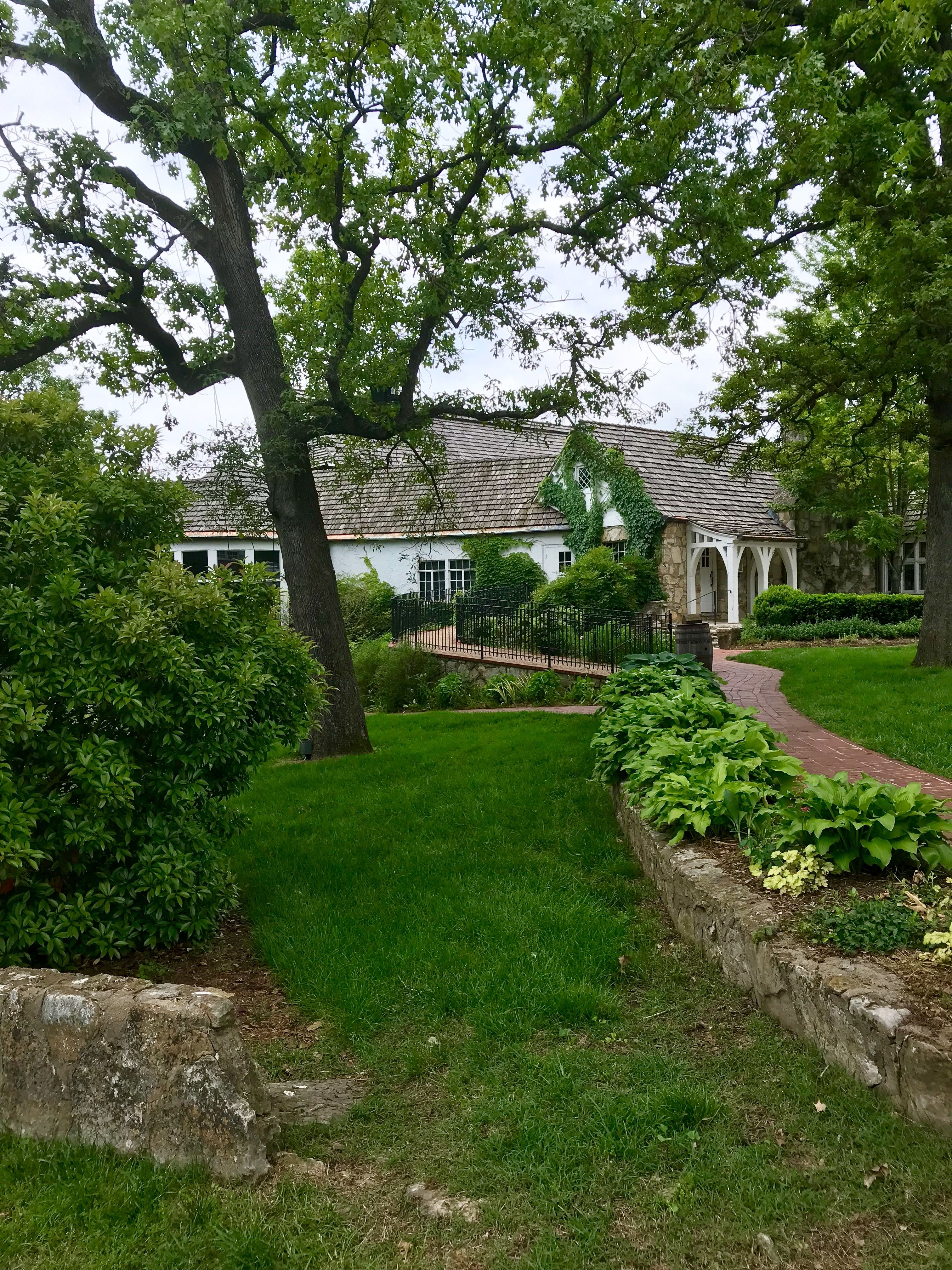 Old Stone House Old Stone Walls Lush Green Landscape Ivy Old Stone Houses Green Landscape Stone Wall