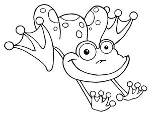 thanksgiving coloring pages free frogs pictures - Jumping Frog Coloring Page