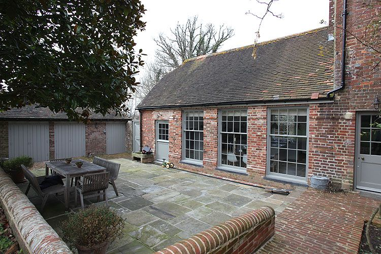 Pale Grey Paint And Old Red Brick Exteriors Grey