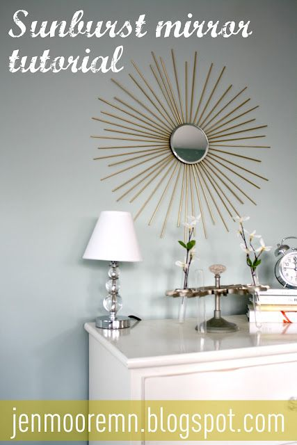 Sunburst mirror tutorial...and the whole project costs less than 10 dollars!