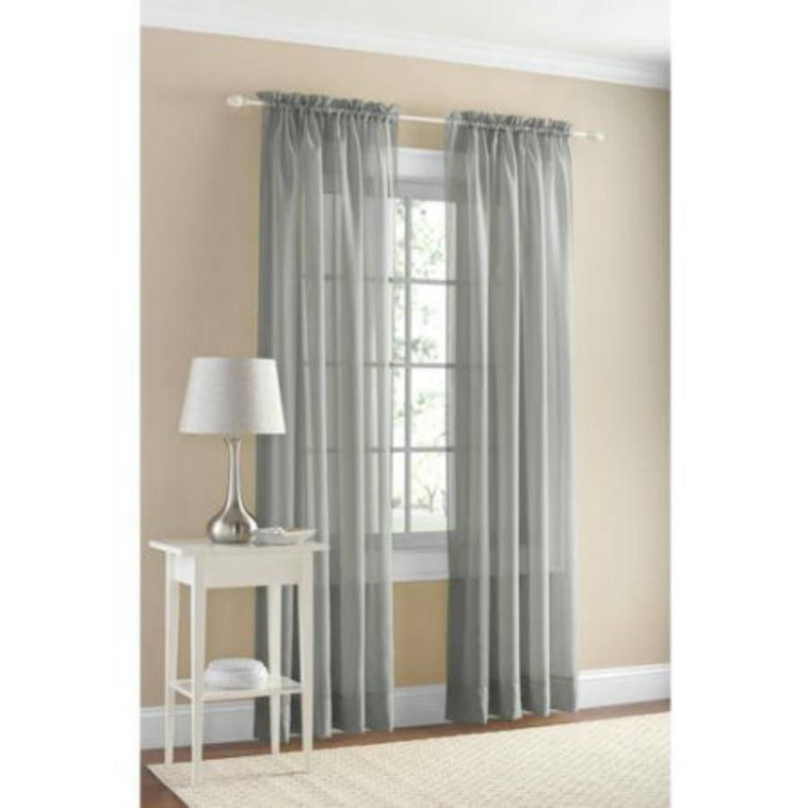 "Mainstays Marjorie Sheer Voile Curtain Panel 59"" X 63"