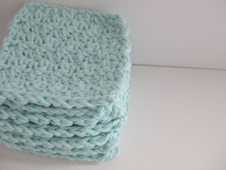 cotton crochet face scrubbies
