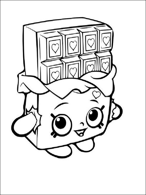 Shopkins Tegninger Til Farvelaegning For Born 6