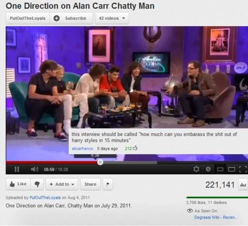 my favorite alan carr and one direction video :)
