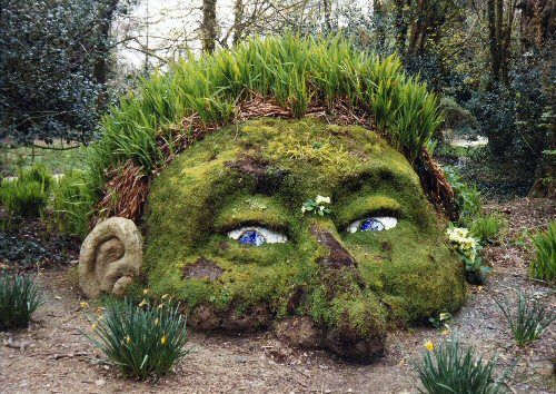 Gnome Garden Ideas fairy gardens Mudman2x500 A Gnome In Your Garden In Garden Art With Moss Head Gnome Garden Cornwall