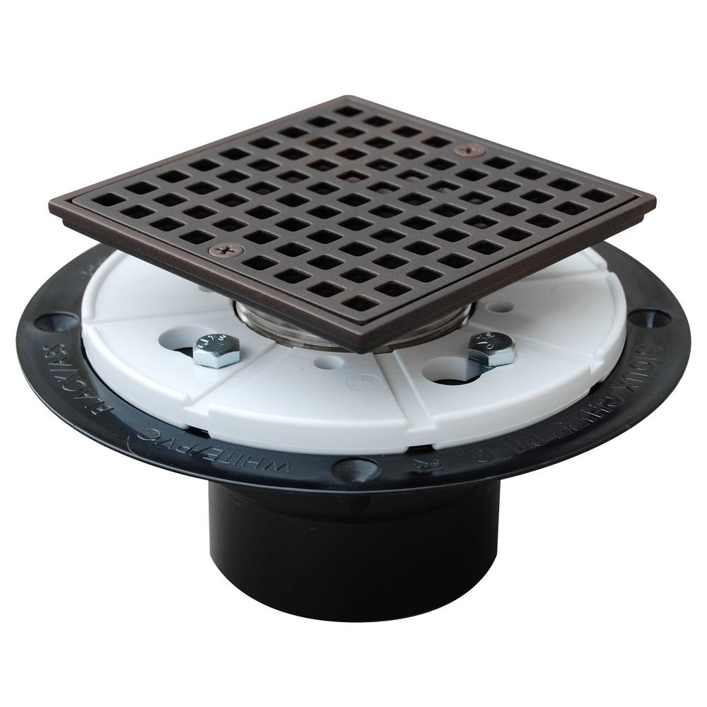 Oil Rubbed Bronze Shower Drain.Sioux Chief 2 In Abs Square Head Shower Pan Drain In Oil