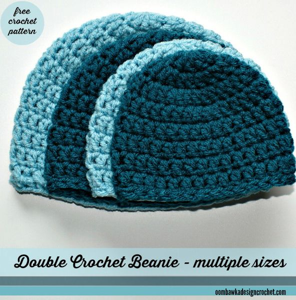 Free Simple Double Crochet Hat Pattern With Sizes From Preemie To