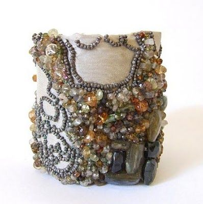 Andrea Gutierrez LA beaded cuff. Such talent!