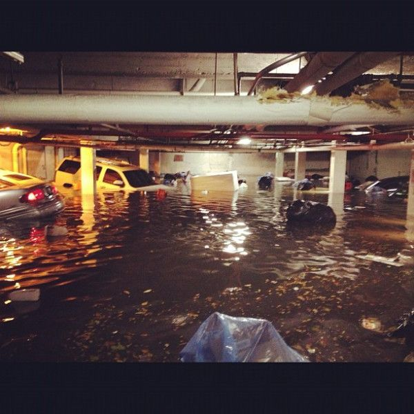Hurricane Sandy, Parking Garage, Flood