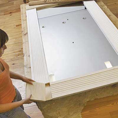 How to Make a New Mirror with Old Door Trim | Door trims, Doors and ...