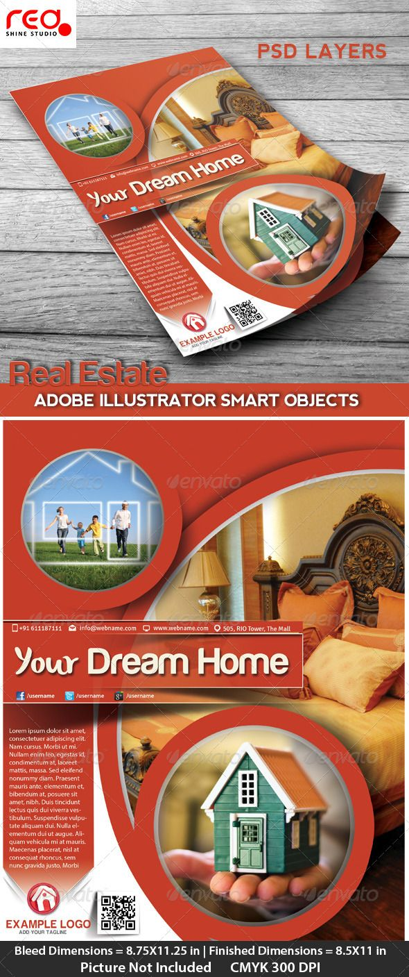Poster design dimensions - Real Estate Flyer Poster Magzine Cover Design Photoshop Psd Stylish Global