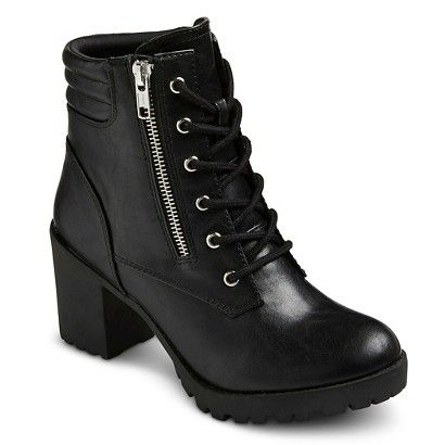 Chunky Heel Combat Boots. | Boots