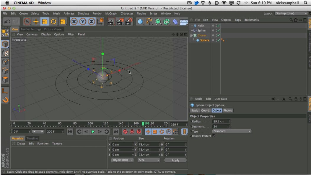 Nick Campbell well known as GreyScaleGorilla explains how to animate an object to a path or spline in C4D.