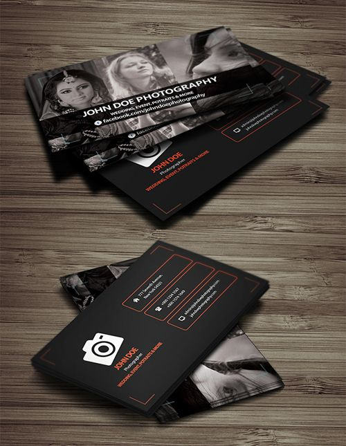 Free Photography Business Card Template Branding Freepsdmockups - Photography business cards templates free