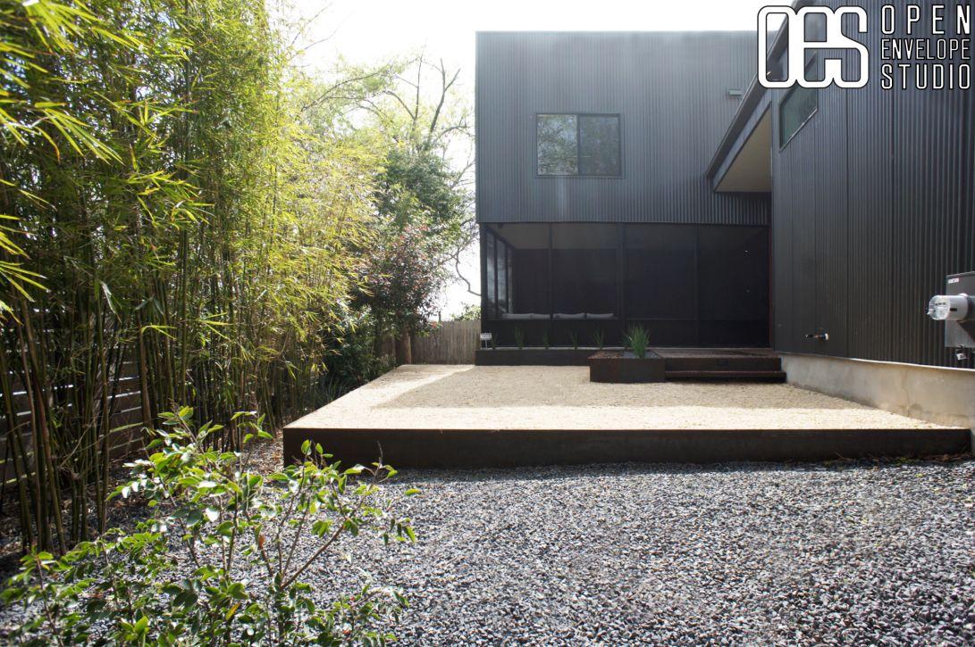 Lovely OES | Steel Retaining Wall, Steel Steps, Crushed Limestone Gravel Patio,  Steel
