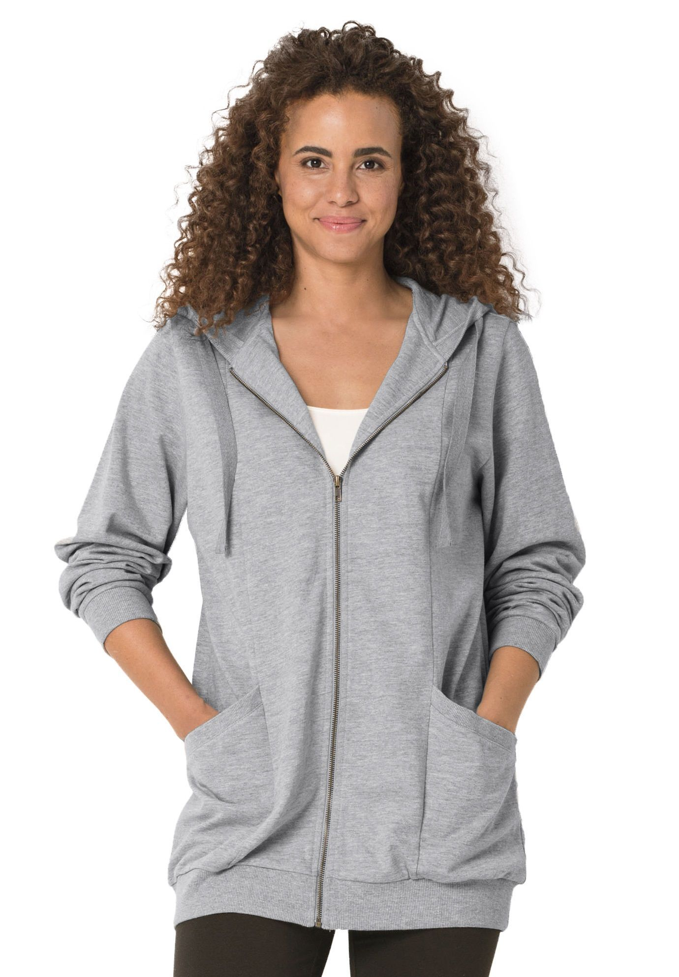 dc3af80f08e Zip front tunic hoodie - Women's Plus Size Clothing | Products in ...