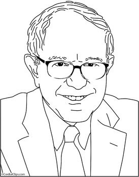 Coloring Pages Zip File. 8 5 x11  300ppi Bernie Sanders Clip Art Coloring Page or Mini PosterThis