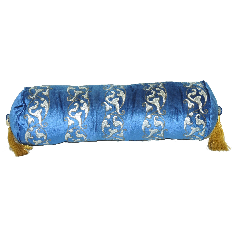 La Cera Neck Roll Cushion with Tassles