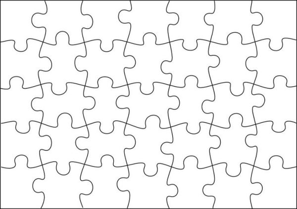 photograph relating to Make Your Own Jigsaw Puzzle Printable called Puzzle template toward build your personal puzzles (a lot more measurements upon