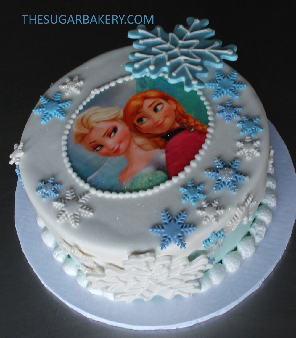 Frozen Ana and Elsa cake Party Pinterest Elsa cakes Cake and