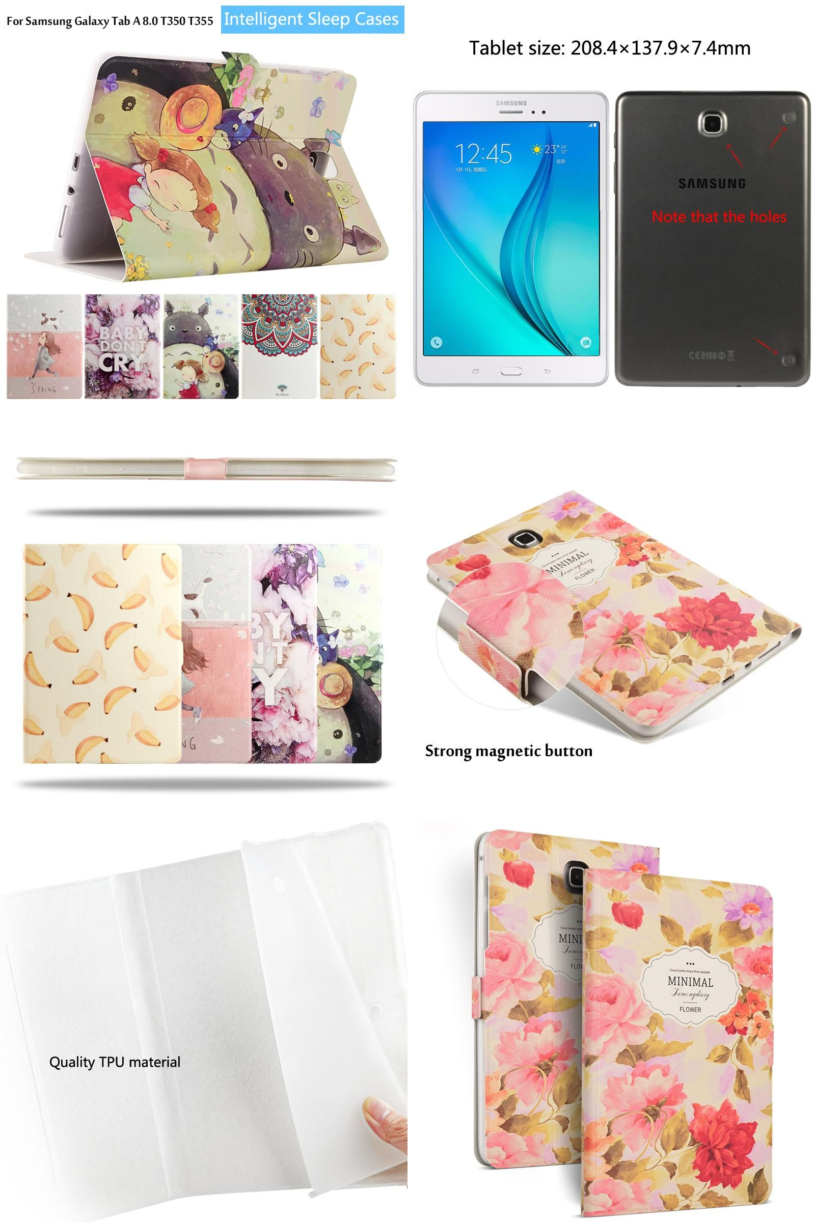 Visit To Buy Fashion Painted Flip Pu Leather For Samsung Galaxy Tab A P355 80