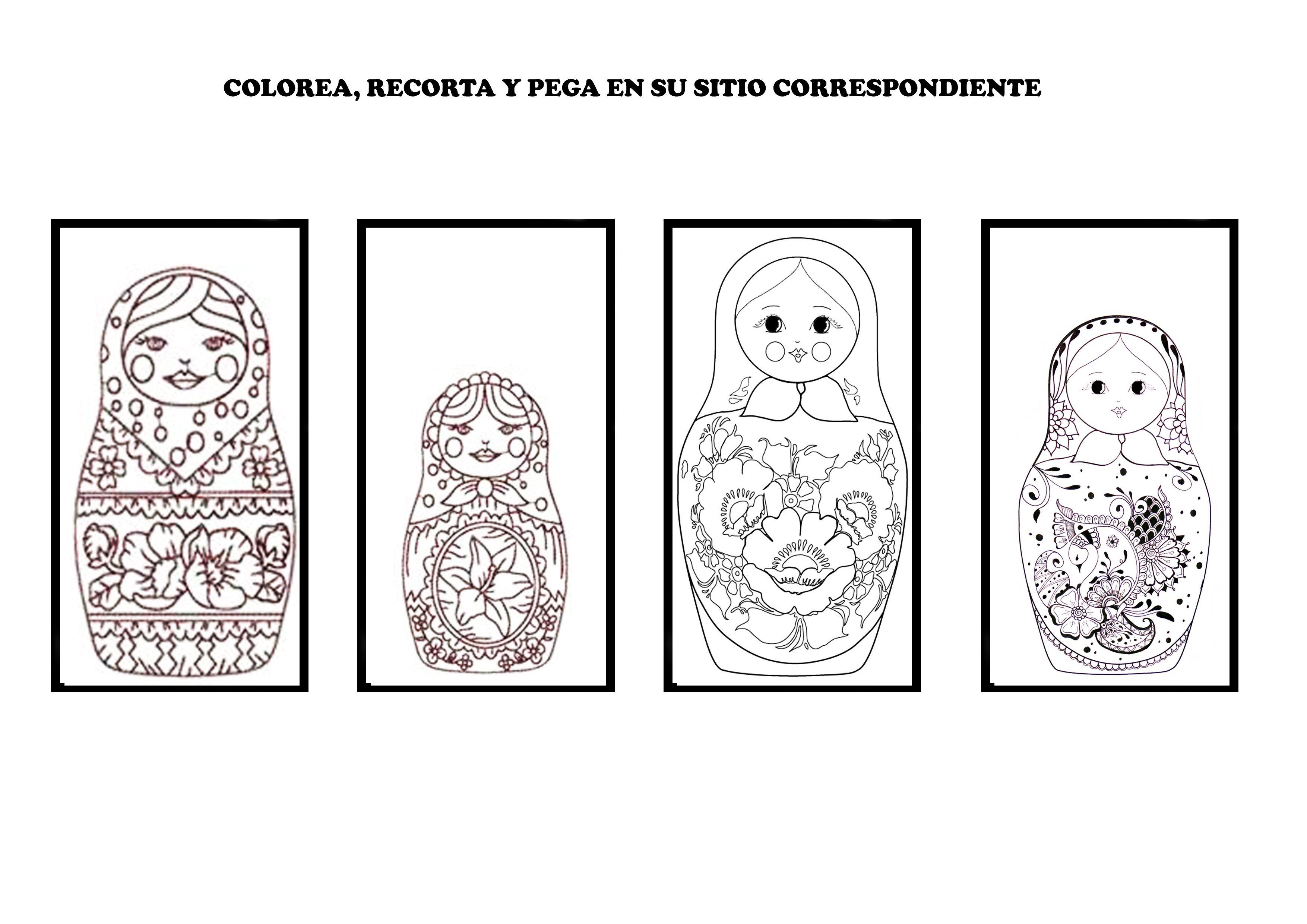MATRIOSKAS PARA FICHA | Fichas, Interculturalidad, Matrioskas