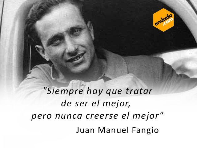 Juan Manuel Fangio Autos Coches Y Frases