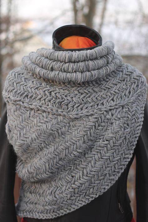 Katniss inspiriert Kutte Weste Schal Rüstung knit Jägerin | Häkeln ...