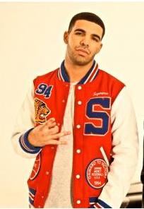 Drake wearing baseball jacket | Celebrities wearing Baseball ...