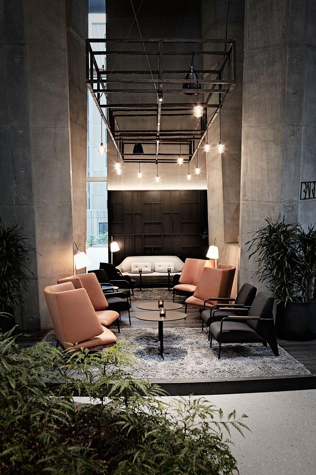 Interior design of Restaurant BARK at Crowne Plaza Hotel ...