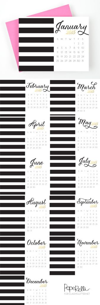 Printable 2015 Calendars - Click for free download