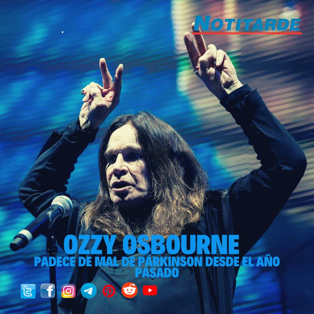 Ozzy Osbourne padece de mal de párkinson desde febrero de