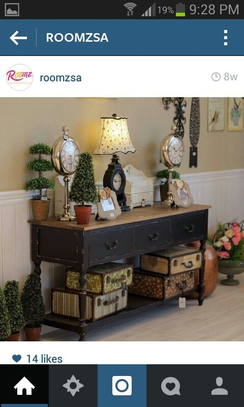 طاولة التلفزيون رومز المطلق الرياض Decor Entryway Tables Furniture