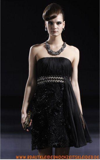 2012 Glamoures Abendkleid schwarz A-Linie online kaufen ...