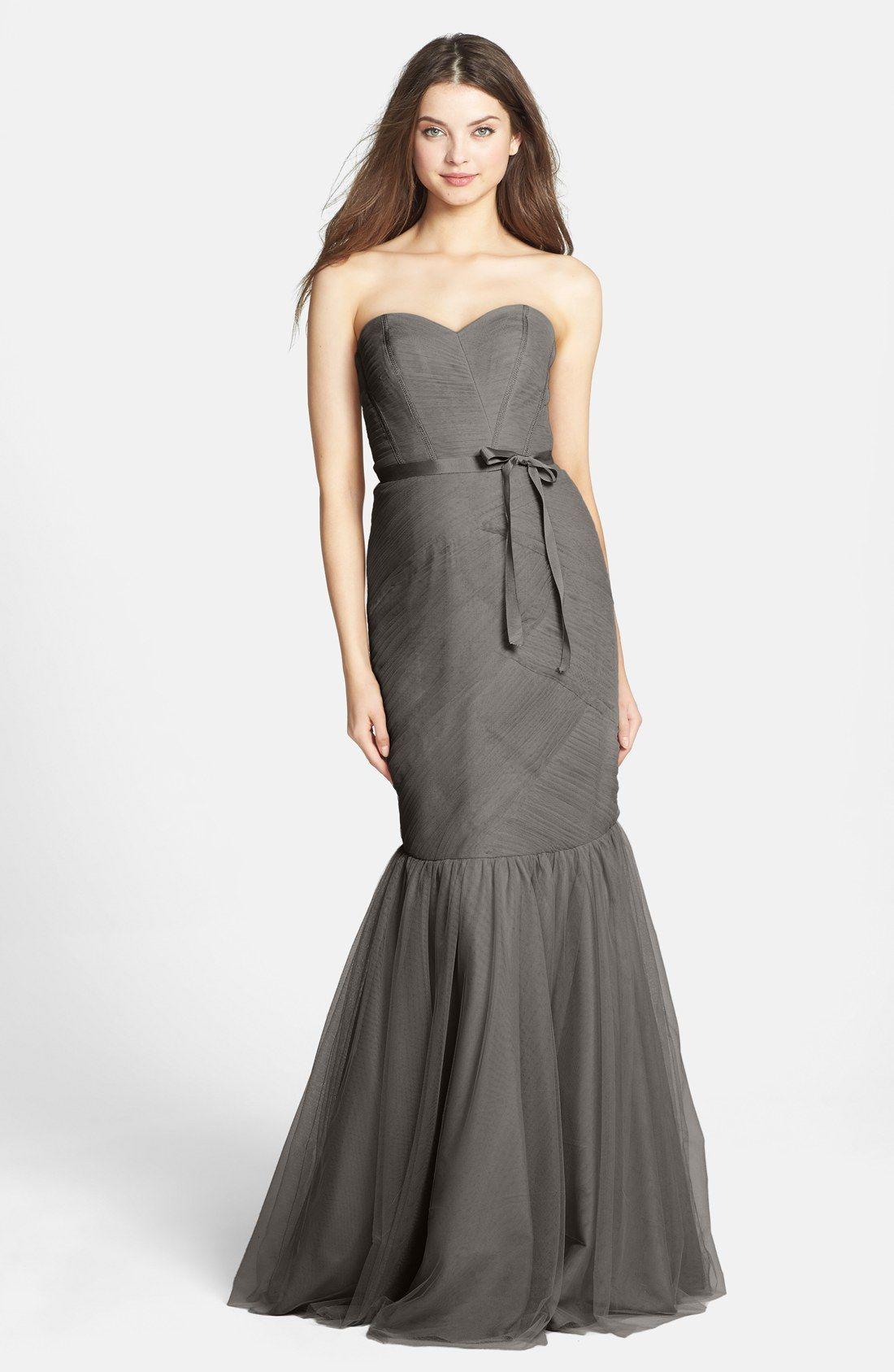 Monique Lhuillier Bridesmaids Tulle Trumpet Dress | CASUAL CHIC ...