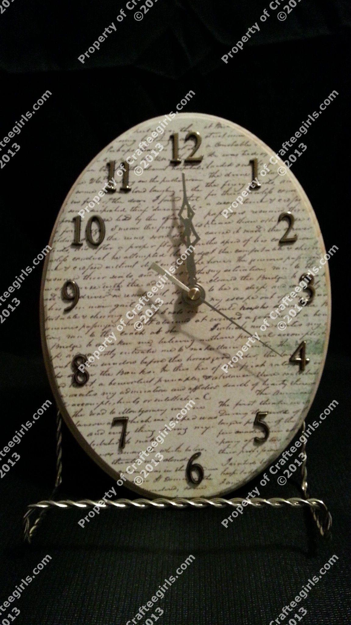 Handmade wooden Battery operated clock