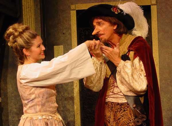 """CYRANO: A kiss,An oath that's ratified, - a sealed promise,A heart's avowal claiming confirmation, A rose-dot on the 'i' of 'adoration,' -  A secret that to mouth, not ear, is whispered, - Brush of a bee's wing, that makes time eternal, Communion perfumed like the spring's wild flowers, The heart's relieving in the heart's outbreathing,When to the lips the soul's flood rises, brimming!""""A kiss is a secret which takes the lips for the ear."""""""