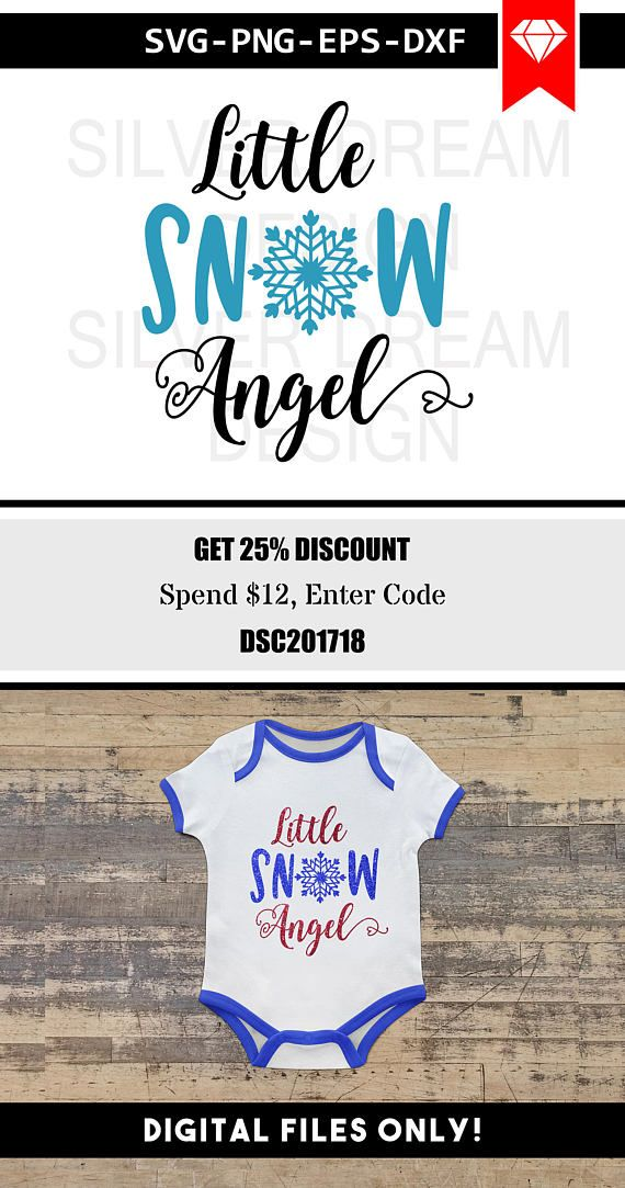 Little Snow Angel Svg Please Note This Is A Digital File And No Physical Items Will Be Shipped Due To The Nature Of Printable Digital Products There Are No Ref